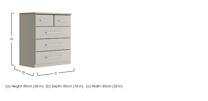 Eaton 3 + 2 Drawer Chest in  on Furniture Village
