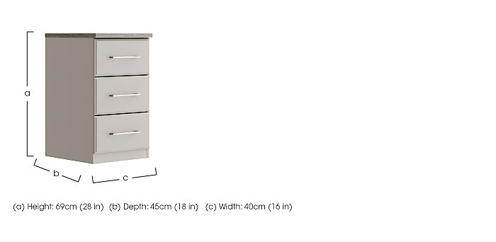 Eaton 3 Drawer Narrow Chest in  on Furniture Village