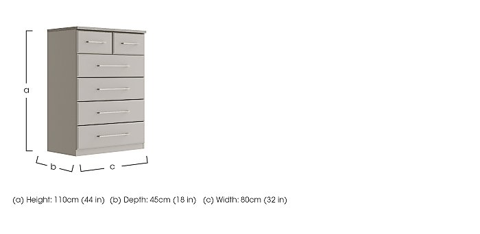 Eaton 4 + 2 Drawer Chest in  on Furniture Village