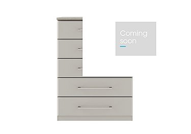 Eaton 5 Drawer Chest in Ezgv Soft Gry-Arizona Lght Gry on Furniture Village