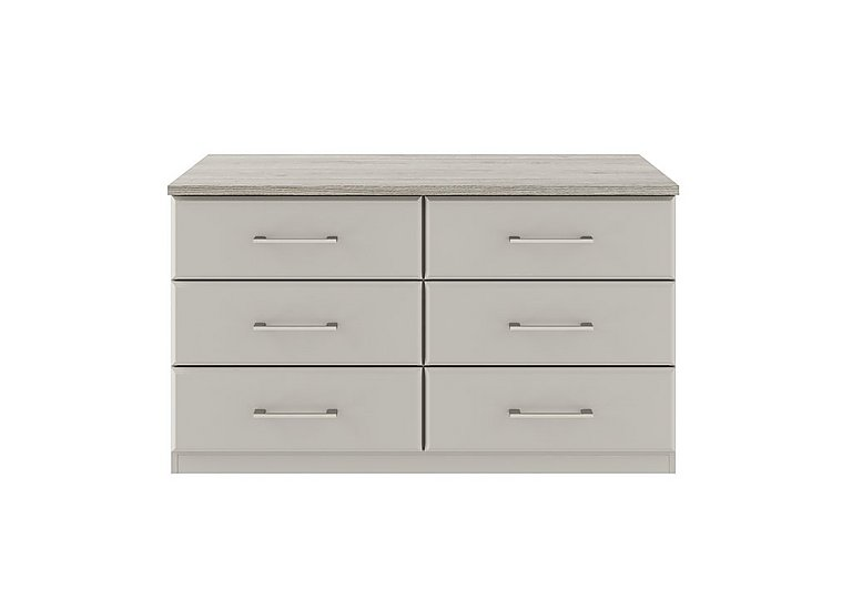 Eaton 6 Drawer Chest in Ezgv Soft Gry-Arizona Lght Gry on Furniture Village