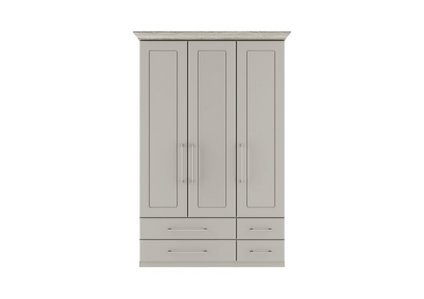 online store 05410 a0291 Eaton 3 Door 4 Drawer Wardrobe - Kingstown - Furniture Village