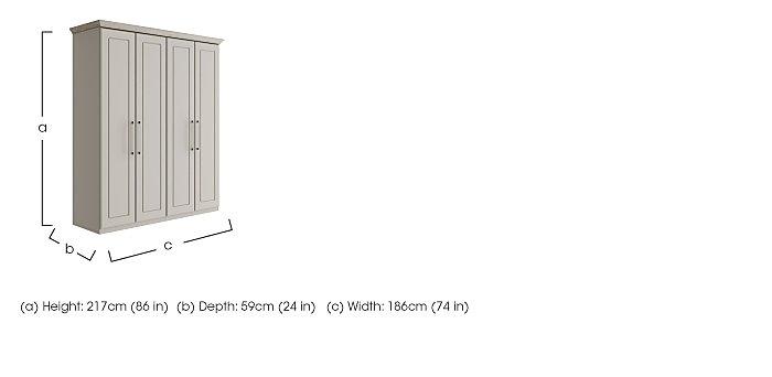 Eaton 4 Door Wardrobe in  on Furniture Village