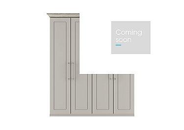 Eaton 4 Door Wardrobe in Ezgv Soft Gry-Arizona Lght Gry on Furniture Village