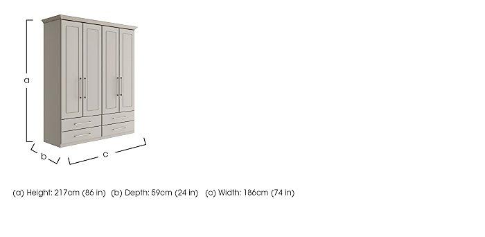 Eaton 4 Door 4 Drawer Wardrobe in  on Furniture Village