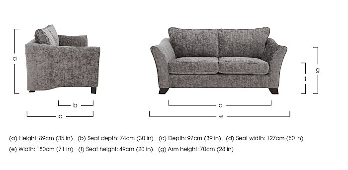 Annalise II 2 Seater Fabric Sofa in  on Furniture Village