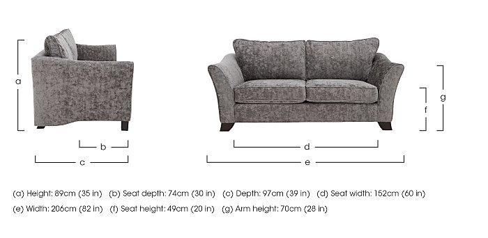 Annalise II 3 Seater Fabric Sofa in  on Furniture Village