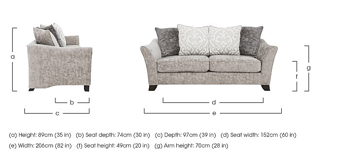 Annalise II 3 Seater Fabric Pillow Back Sofa in  on Furniture Village