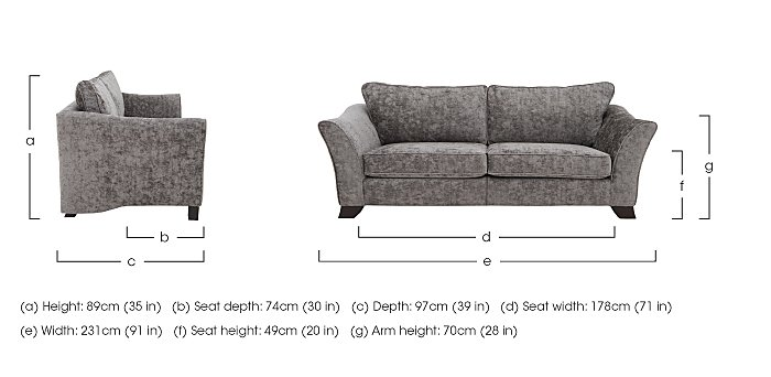 Annalise II 4 Seater Fabric Split Frame Sofa in  on Furniture Village