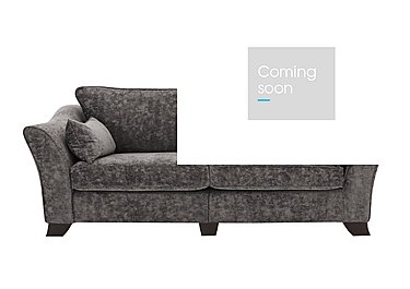 Annalise II 4 Seater Fabric Split Frame Sofa in Crombie Plain Ash Dk on Furniture Village
