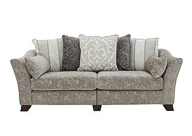 Annalise II 4 Seater Split Frame Fabric Pillow Back Sofa in Crombie Plain Truffle Opt1 Dk on Furniture Village