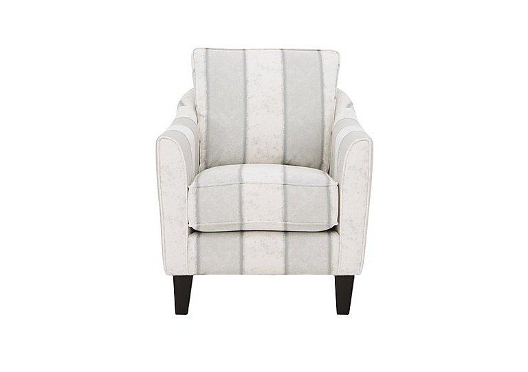 Annalise II Fabric Ladies Armchair in Camilla Stripe Ivory Dk on Furniture Village