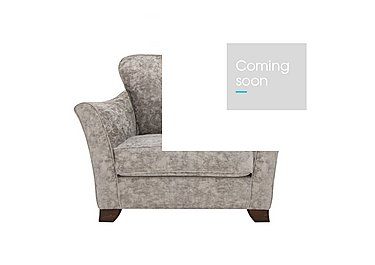 Annalise II Fabric Snuggle Chair in Crombie Plain Truffle Dk on Furniture Village