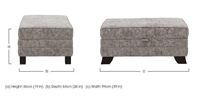 Annalise 2 Large Fabric Storage Stool in  on Furniture Village