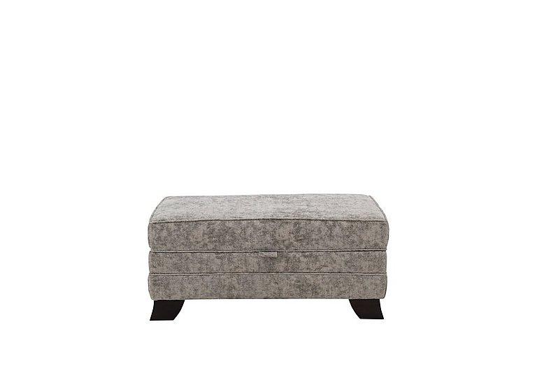 Annalise 2 Large Fabric Storage Stool in Crombie Plain Truffle Dk on Furniture Village