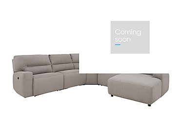 Eden Fabric Recliner Corner Sofa in Bfa-Mad-R02 Silver Grey on Furniture Village