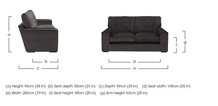 The Avenue Collection 5th Avenue 2 Seater Fabric Sofa in  on Furniture Village