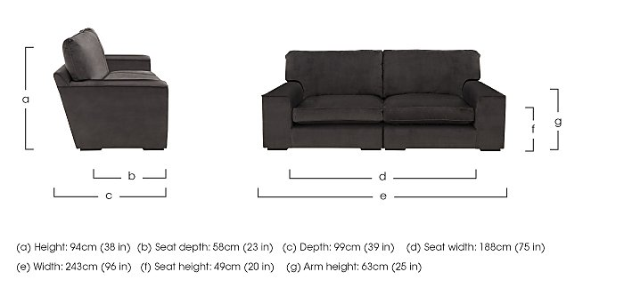 The Avenue Collection 5th Avenue 4 Seater Split Back Fabric Sofa in  on Furniture Village
