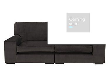 The Avenue Collection 5th Avenue 4 Seater Split Back Fabric Sofa in Plush Asphalt Bk Col 1 on Furniture Village