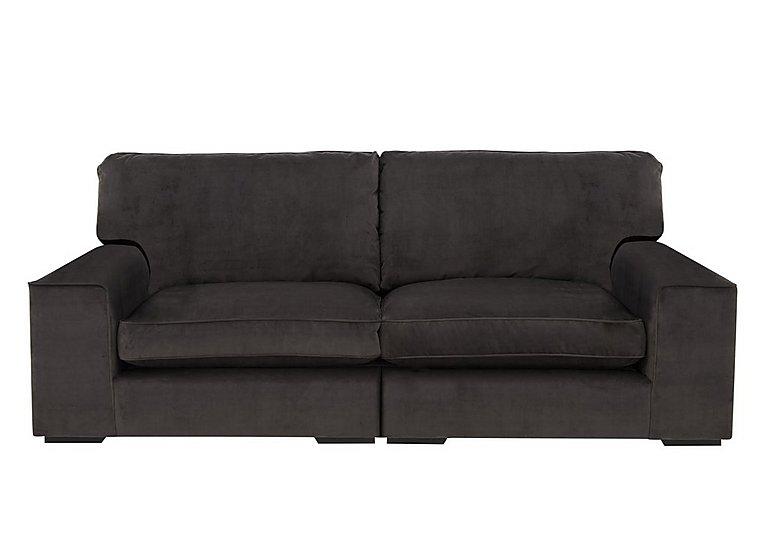 The Avenue Collection 5th Avenue 4 Seater Split Back Fabric Sofa in Plush Asphalt Bk Col 1 on Furniture Village