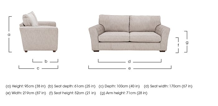 The Avenue Collection Madison Avenue 3 Seater Fabric Sofa in  on Furniture Village
