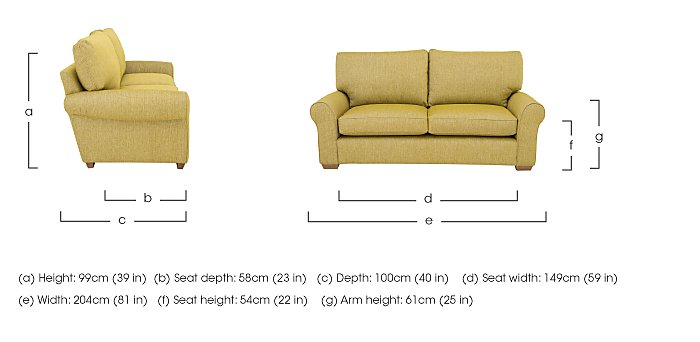 The Avenue Collection Park Avenue 2 Seater Fabric Sofa in  on Furniture Village