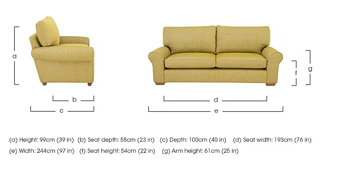 The Avenue Collection Park Avenue 4 Seater Fabric Sofa in  on Furniture Village