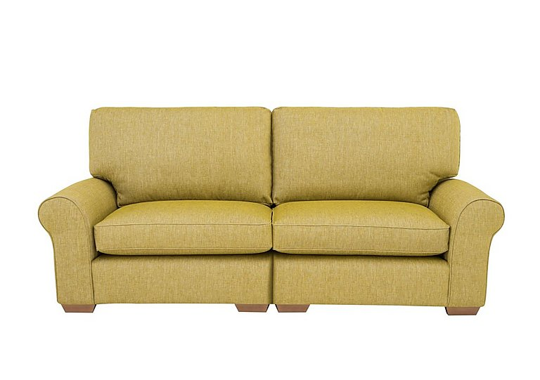 The Avenue Collection Park Avenue 4 Seater Split Back Fabric Sofa in Jersey Lime Lt Col 2 on Furniture Village