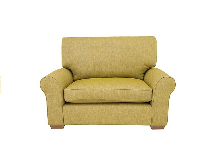 The Avenue Collection Park Avenue Fabric Snuggler Armchair in Jersey Lime Lt Col 2 on Furniture Village