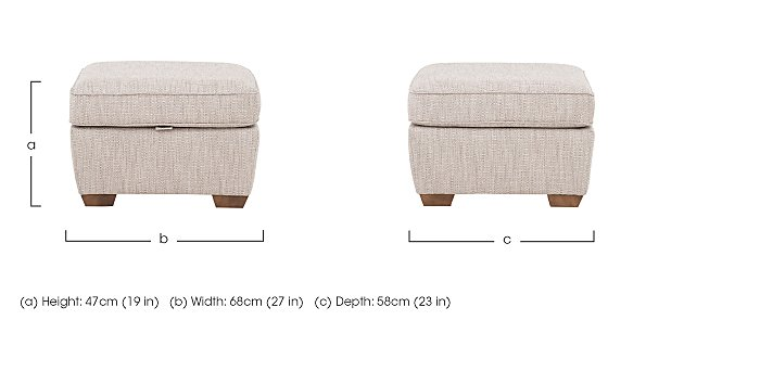 The Avenue Collection Fabric Footstool in  on Furniture Village