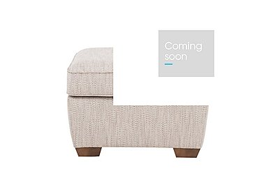 The Avenue Collection Fabric Footstool in Carson Pebble Dk Col 3 on Furniture Village