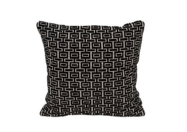 The Avenue Collection Fabric Scatter Cushion in Shania Black on Furniture Village