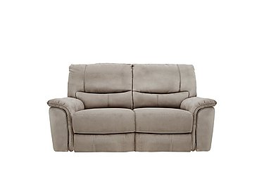 Relax Station Bliss 2 Seater Fabric Recliner Sofa in Bfa-Blj-R946 Silver Grey on Furniture Village