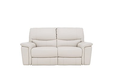 Relax Station Bliss 2 Seater Leather Recliner Sofa in Nc-156e Frost on Furniture Village