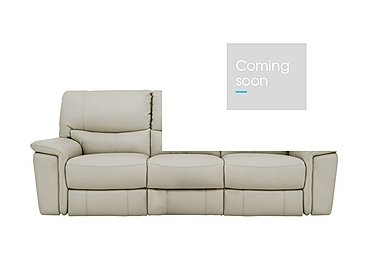 Relax Station Bliss 3 Seater Leather Recliner Sofa in Bv-946b Silver Grey on Furniture Village