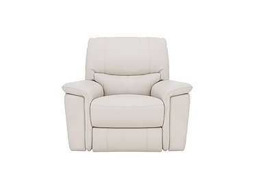 Relax Station Bliss Leather Recliner Armchair in Nc-156e Frost on Furniture Village