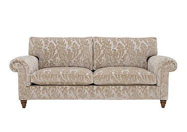 The Prestige Collection Knightsbridge 4 Seater Fabric Sofa in 94965-02 Blessington Sand on Furniture Village