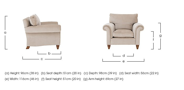 The Prestige Collection Knightsbridge Fabric Armchair in  on Furniture Village
