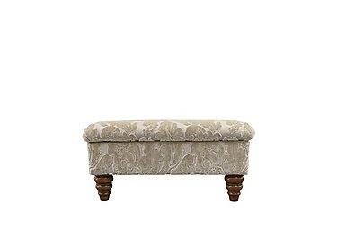The Prestige Collection Knightsbridge Fabric Storage Footstool in 94965-02 Blessington Sand on Furniture Village