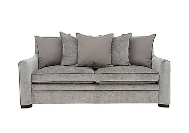 The Prestige Collection Bayswater 3 Seater Fabric Pillow Back Sofa in 94151-16 Dolce Graphite on Furniture Village