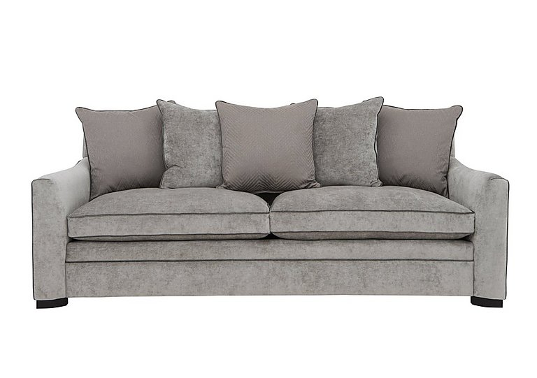 The Prestige Collection Bayswater 4 Seater Fabric Pillow Back Sofa in 94151-16 Dolce Graphite on Furniture Village