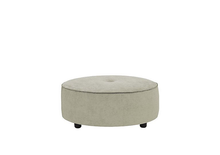 The Prestige Collection Bayswater Fabric Footstool in 94151-16 Dolce Graphite on Furniture Village