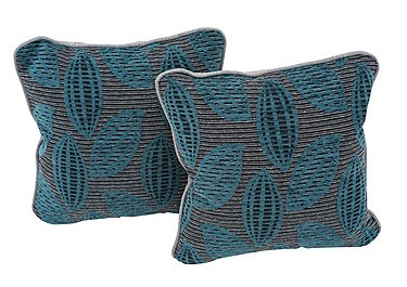 Weekender Pair of Scatter Cushions in Montoro Teal on Furniture Village