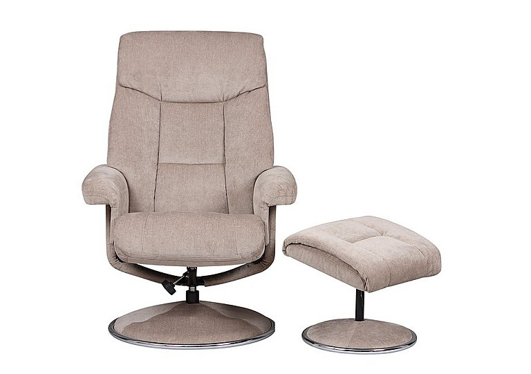 Bruges Fabric Swivel Chair And Footstool Furniture Village