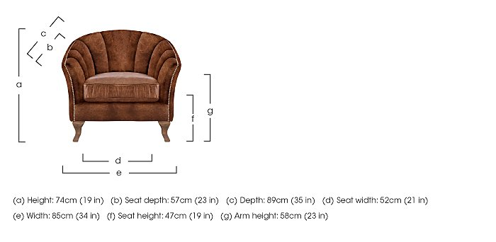 New Romance Betsy Leather Armchair in  on Furniture Village