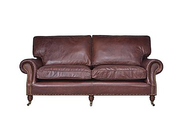 Radford 2 Seater Leather Sofa in Biker Tan An on Furniture Village
