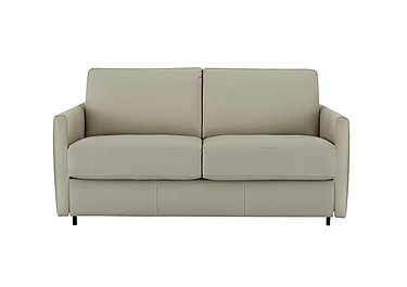 Alcova 2 Seater Leather Sofa Bed with Slim Arms in 857 Tortora on Furniture Village