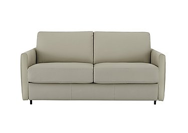 Alcova 2.5 Seater Leather Sofa Bed with Slim Arms in 857 Tortora on Furniture Village