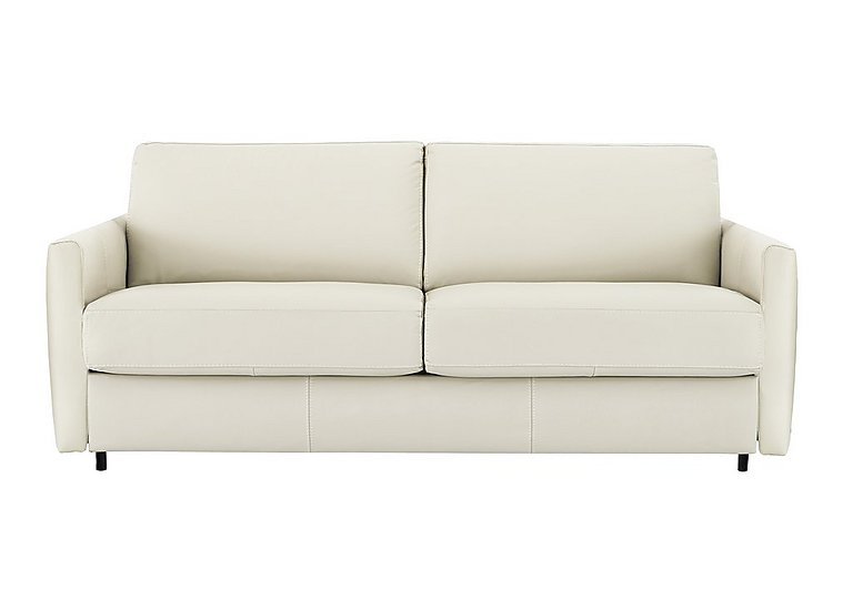 Alcova 3 Seater Leather Sofa Bed with Slim Arms ...