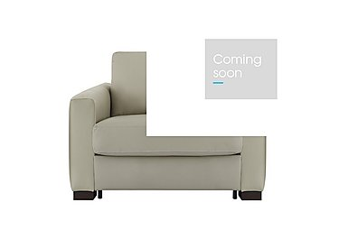 Alcova Leather Sofa Bed Chair with Box Arms in 857 Tortora on Furniture Village